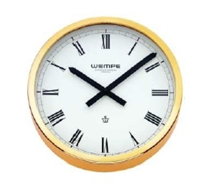 Analogue marine clock brass Ø 235mm