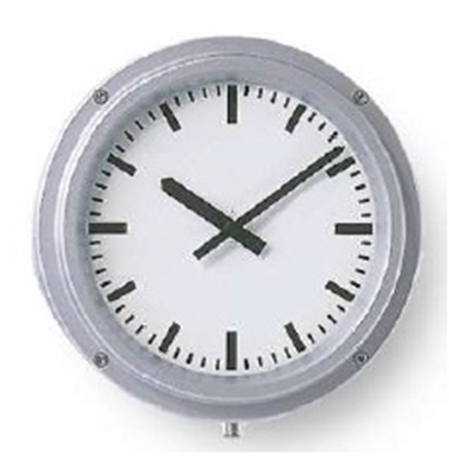 Analogue marine clock aluminium Ø 320mm watertight IP66