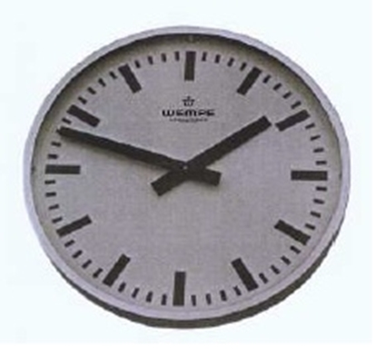Analogue marine clock aluminium Ø 420mm weatherproof IP54