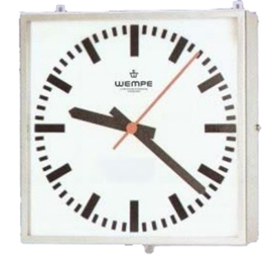 Analogue marine clock stainless st. A4 468 x 468mm