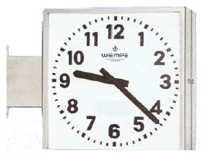 Analogue marine clock stainless st. A4 468 x 468mm  double face