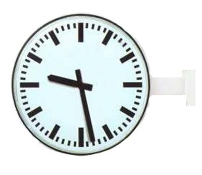 Analogue marine clock double face alu. Ø 420mm
