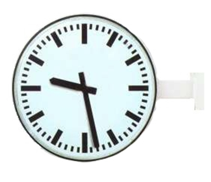 Analogue marine clock double face alu. Ø 420mm