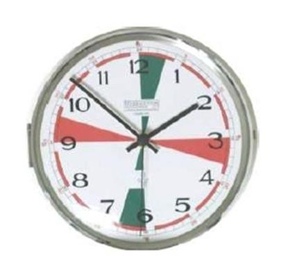 Analogue radio room clock flush mount Ø 187mm
