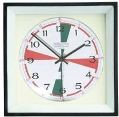 Analogue radio room clock flush mount 144x144mm