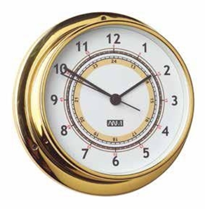 Picture of Polish brass and lacquered clock