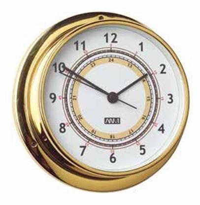 Picture of Relógio em latão polido e lacado