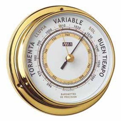 Picture of Polished brass and lacquered barometer 115mm