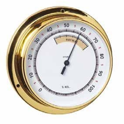 Picture of Polished brass and lacquered hygrometer