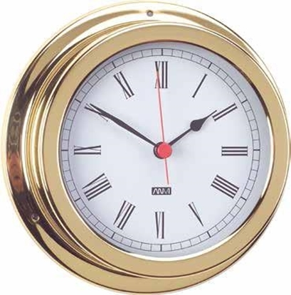 Picture of Polish brass and lacquered clock 150mm