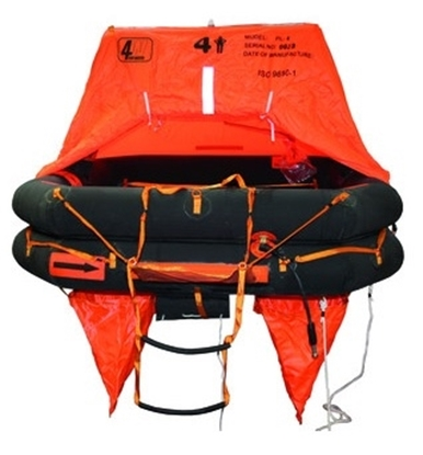 Picture of Deep Sea 6 persons liferaft ISO 9650-1 T2 - container
