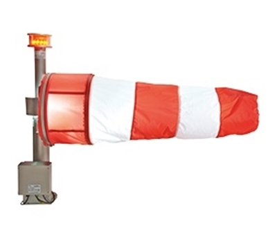 Lighted aviation wind cones ILED illuminated Windsock