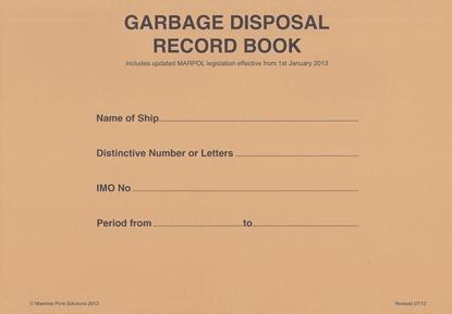 Garbage Disposal Record Book