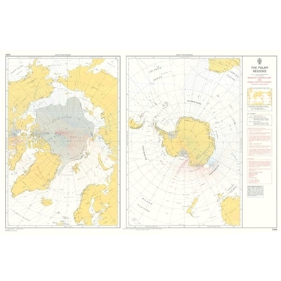 Admiralty Magnetic Variation Chart - 5384 The Polar Regions