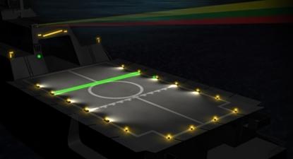 Iluminação de convés de voo