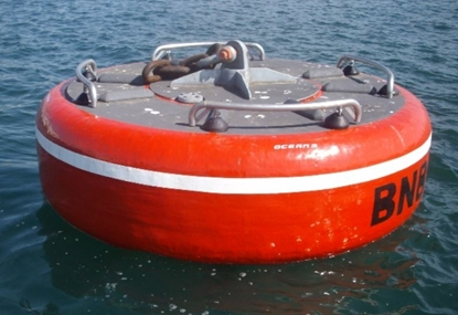 Mooring buoy with removable steel frame