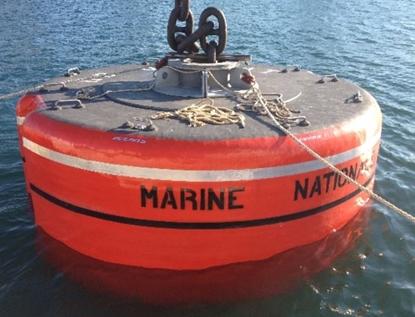Through mooring buoy
