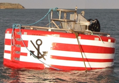 Picture of Angled steel frame mooring buoy