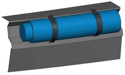 Picture of Recess for circular section fender