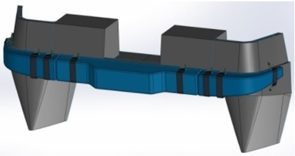 Picture of Recess for complex section fender