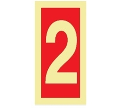 Picture of Fire Sign-number 2 15x7.5