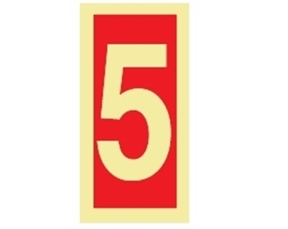 Fire Sign-number 5 15x7.5