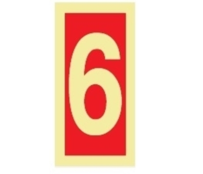 Fire Sign-number 6 15x7.5