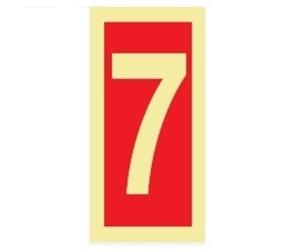Fire Sign-number 7 15x7.5