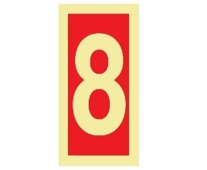 Fire Sign-number 8 15x7.5