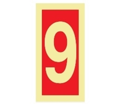 Fire Sign-number 9 15x7.5