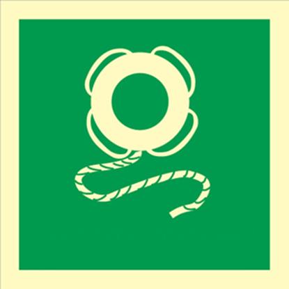 IMO Sign- lifebuoy w/ line 15x15
