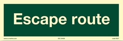Picture of Escape Sign-escape route 30x10