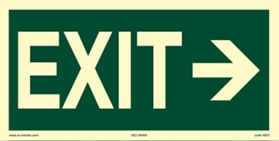 Picture of Escape Sign-exit right, 30x15
