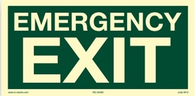 Picture of IMO Sign-emergency exit 30x15