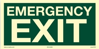 IMO Sign-emergency exit 30x15
