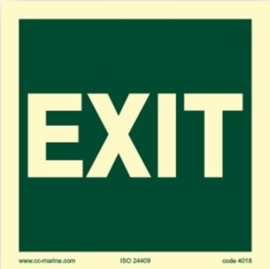 Picture of IMO Sign-exit 15x15 cm