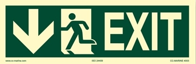 Picture of IMO Sign-exit down 30x10