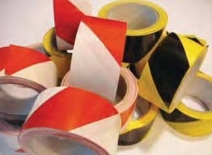 Picture of Adhesive obstruction tape black/yellow