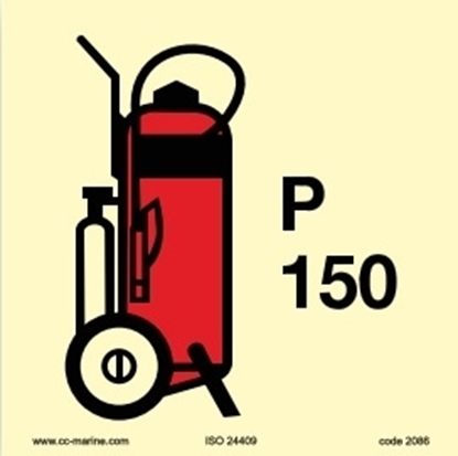 Picture of IMO Sign-150Kg wheeled powder fire extinguisher 15x15