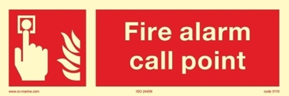 Picture of Fire sign-Fire alarm call p 30x10