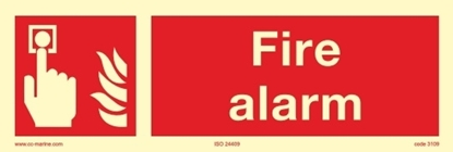 Picture of Fire Sign-fire alarm, 30x10