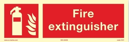 Picture of Fire Sign-fire extinguisher 30x10