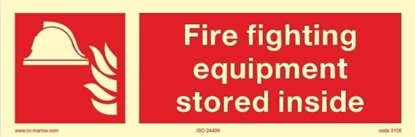 Picture of Fire Sign-fire fight. equipm. stored inside 30x10