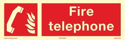 Picture of Fire Sign-fire telephone 30x10