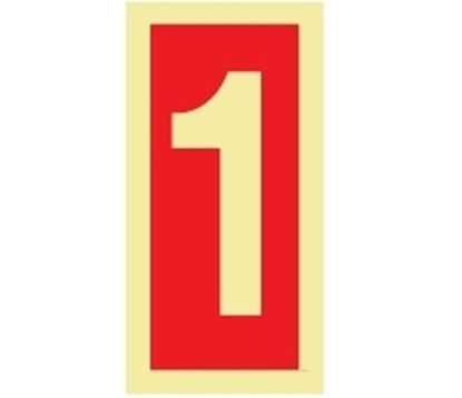 Picture of Fire Sign-number 1 15x7.5