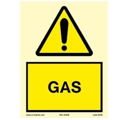 Picture of Warning Sign- Gas 15x20