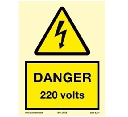 Picture of Warning Sign-220 volts 15x20