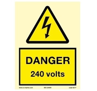 Picture of Warning Sign-240 volts 15x20