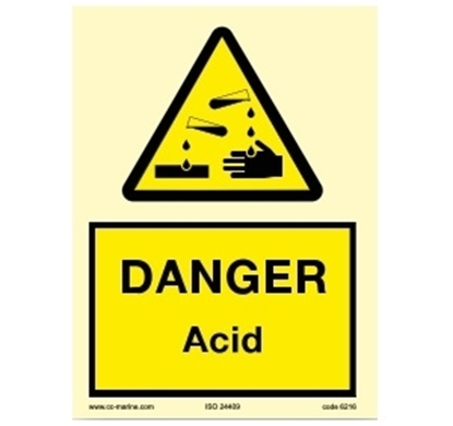 Picture of Warning Sign-acid 15x20
