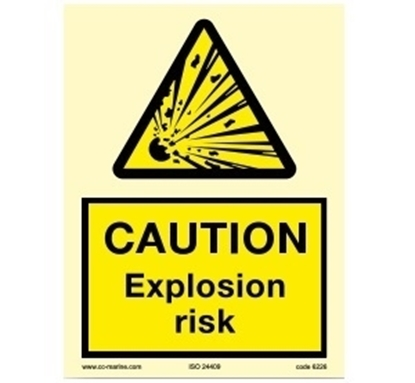 Picture of Warning sign-Caution expl.. 15x20